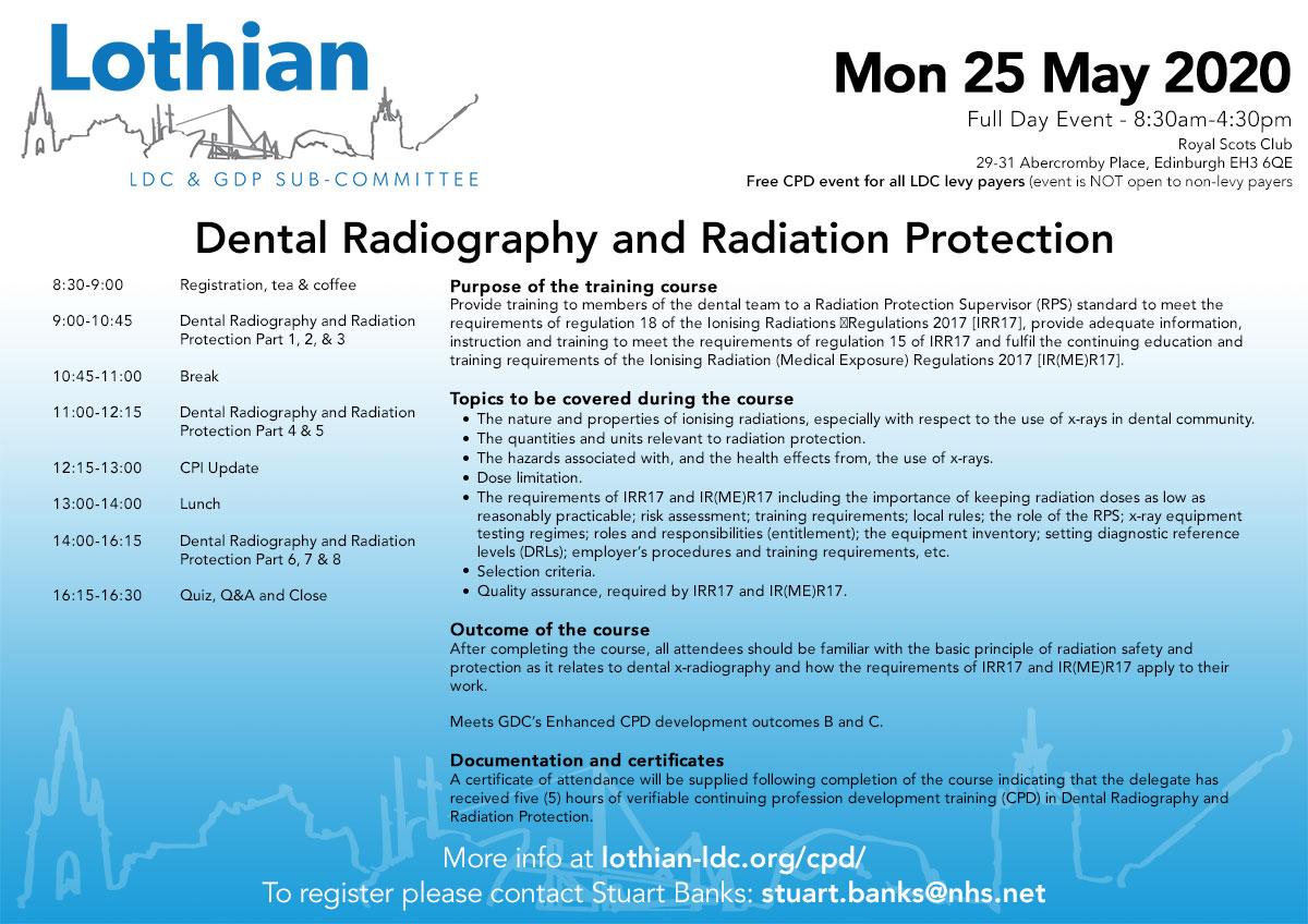 25 May 2020Dental Radiography and Radiation Protection